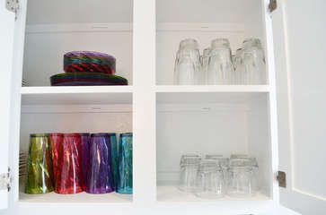Fully stocked kitchen with everything we could think of! Plastic cups, plates and bowls for the kiddos and pool time!