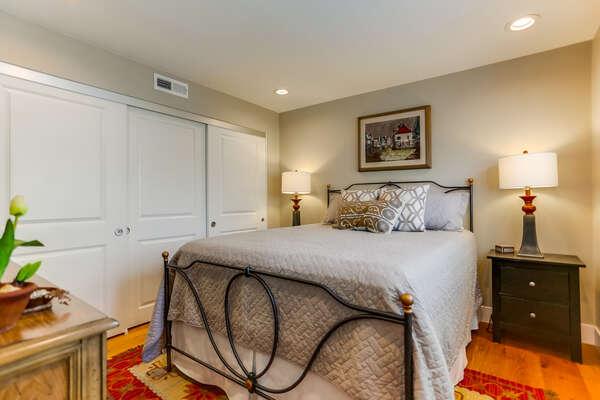 2nd floor bedroom with QUEEN bed
