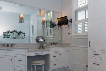 Fully updated Master Bathroom with TV