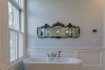 Master Bath Soaking Tub and Calming ambiance