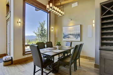 Main dining area with fantastic views