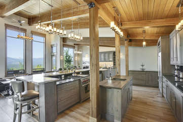 Large open kitchen with double islands