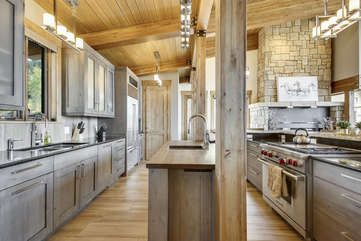 Kitchen with huge walk-in pantry
