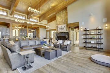 2 story living room area
