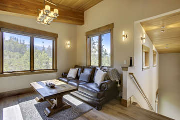 Upper loft area with great views