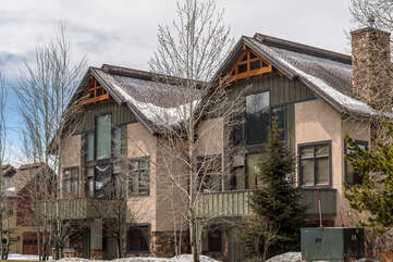 Snowflake Chalet is the right side townhome