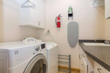 Private washer and dryer in the main level laundry room