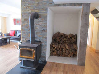 Family Room with wood-stove, Otter Lake