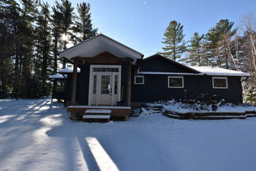 Cottage Exterior in Winter, Otter Lake