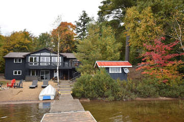 Fall Colours, view from dock, Otter Lake