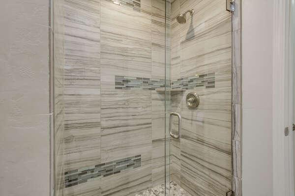 Master en suite bathroom with shower