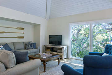 An HDTV is for your viewing along with the nature views from the windows.
