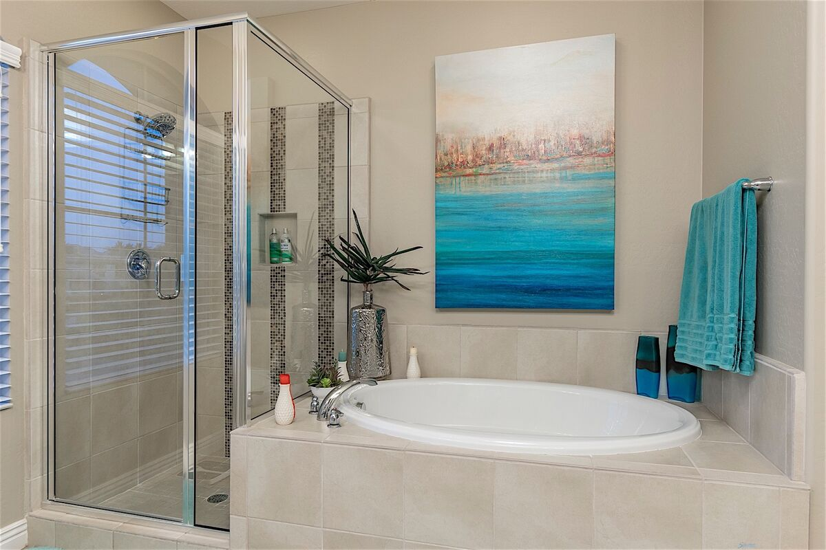 Soaking Tub & Stand Up Shower