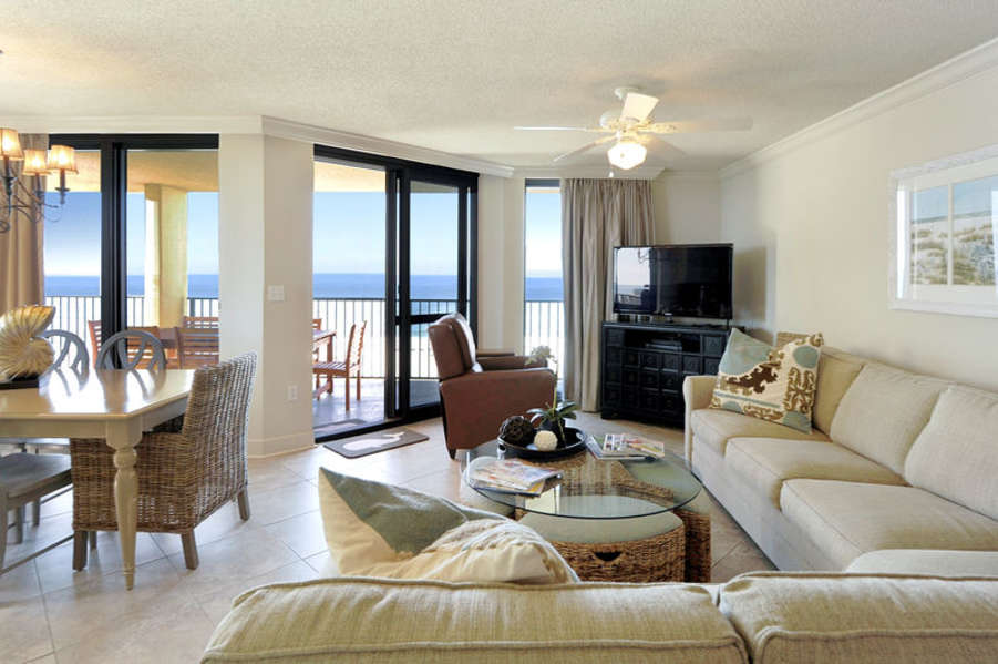 Spacious Living and Dining Areas with Balcony Access