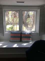 Window seat in second guest bedroom