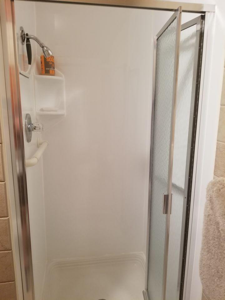 main floor bathroom--shower