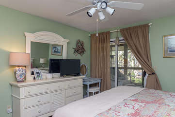 Master Bedroom with access to screened portch