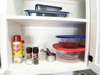 Salt, pepper, cooking spray are only a few of the things we provide!  Cooking and wanting to save for later?  We have you covered with our bowls and pans with lids!