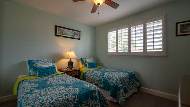 The Third Bedroom with Twin Beds