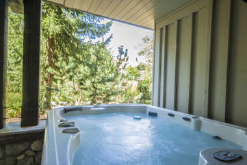 Private hot tub for your relaxation after a day of Whistler activities