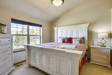 Master Bedroom with King Size Mattress, Blackout shades, new everything!!