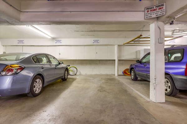 2 Parking Stalls in a shared garage