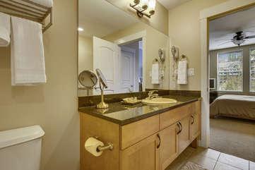 attached master bathroom suite