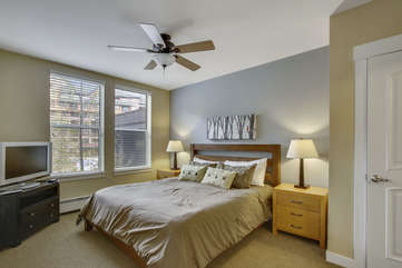 Master bedroom suite with attached bathroom and fantastic views