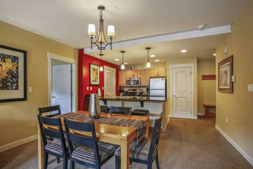 Dining with open floor plan