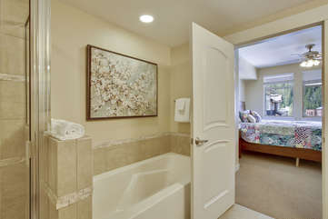 Master bathroom with direct access to the master bedroom