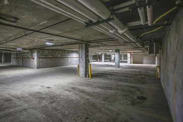 Heated underground parking garage