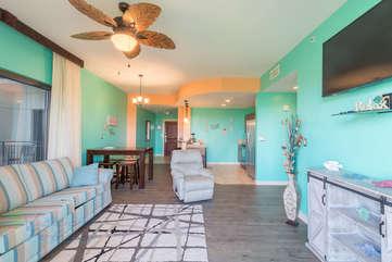 Coastal living room environment