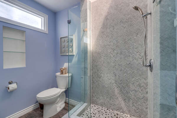 Master Bathroom with spacious shower