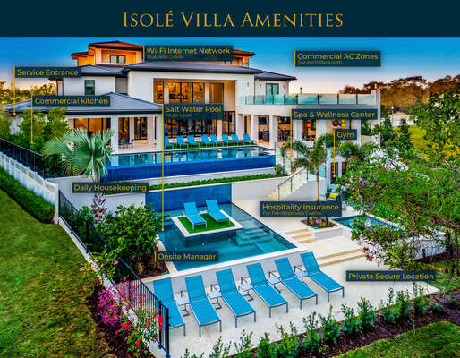Welcome to the luxurious Isole Villa where you will be welcomed with chilled champagne