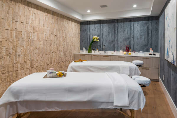 Experience complete pampering at the on-site spa