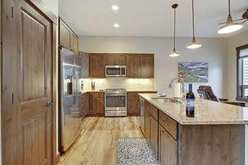 High-end gourmet kitchen