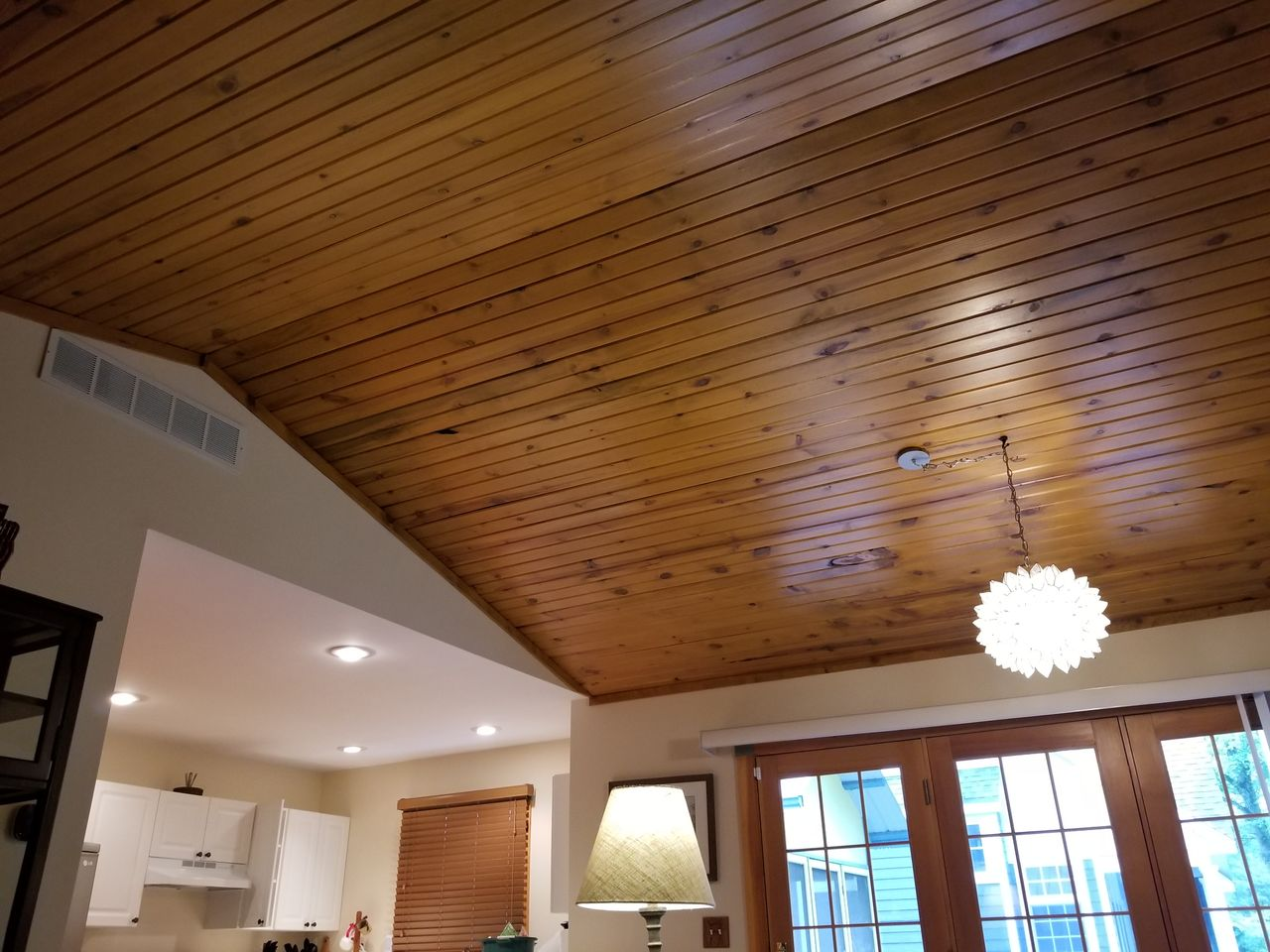 Gorgeous inspiring ceiling of family/dining area