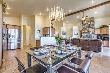 Magnificent home with trendy decor is ideally located for walking to Payson and Green Valley Park