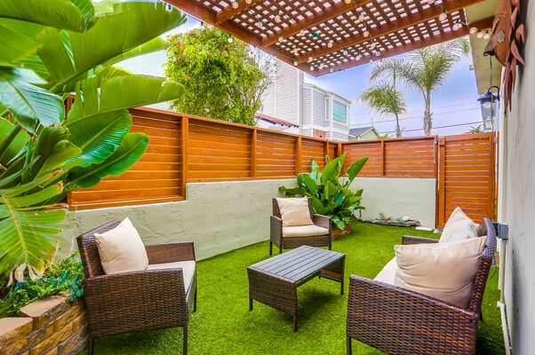 Ground floor private patio area