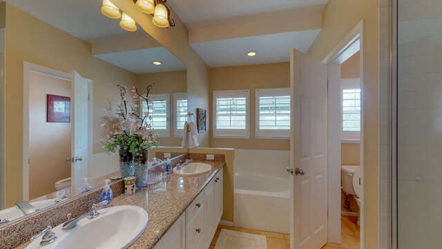 Master Bath with Dual Sinks, Separate Walk-in Shower and Large Soaking Tub