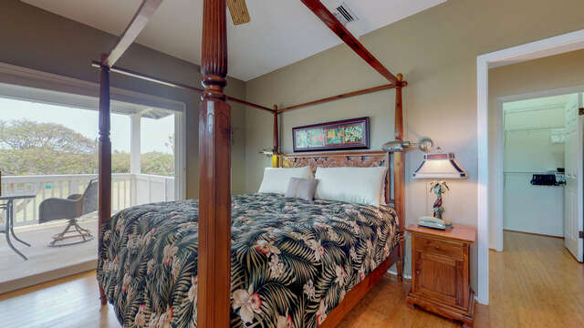 Large Master Bedroom with Access to a Large Private Lanai Overlooking the Golf Course