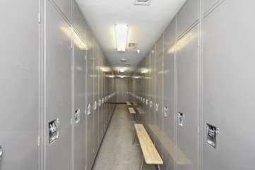 Private and secure ski locker room
