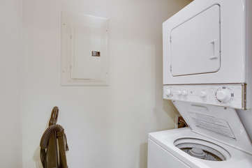 Laundry room in the unit