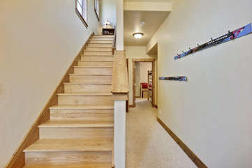 Stairs to lower level bedrooms