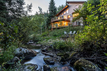 Burgess Creek Lodge is an ideal private mountain headquarters for your next vacation