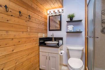 Shared full-bathroom on lower level
