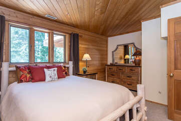 Spacious, dresser storage, and forest views
