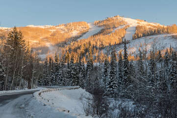 Access to Thunderhead lift at Steamboat Resort just up the road from Burgess Creek Lodge