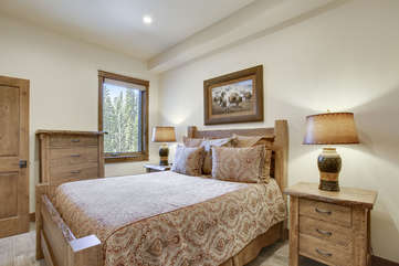 Guest bedroom with custom furinishings