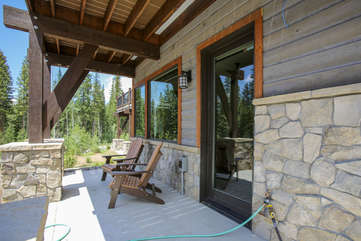 Lower patio with fantastic views
